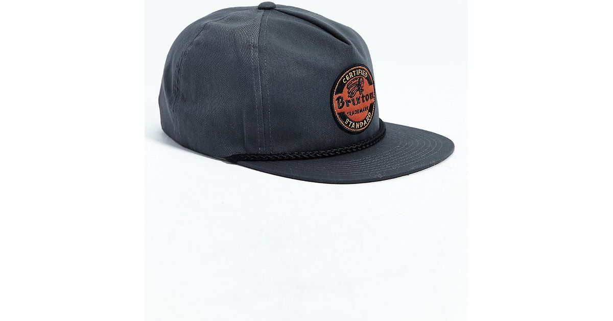 b87529fd2dc4a ... promo code for lyst brixton soto snapback hat in gray for men cd928  c0974 ...