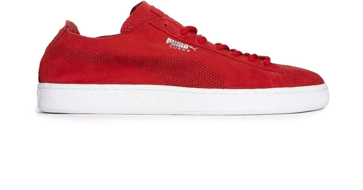 Lyst - PUMA Suede Deconstruct Sneakers in Red for Men ee66a2c60