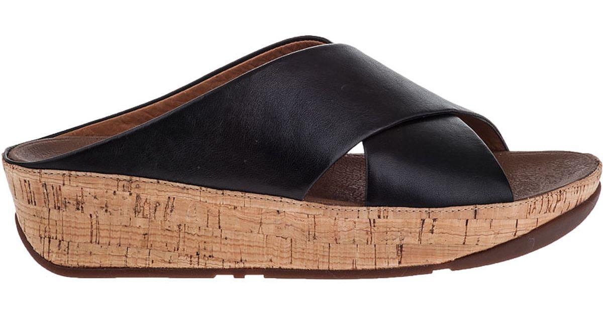 9c3f8d8950ea79 ... Lyst - Fitflop Kys Slide Sandal Black Leather in Black san francisco  4a55b 84d91 ...