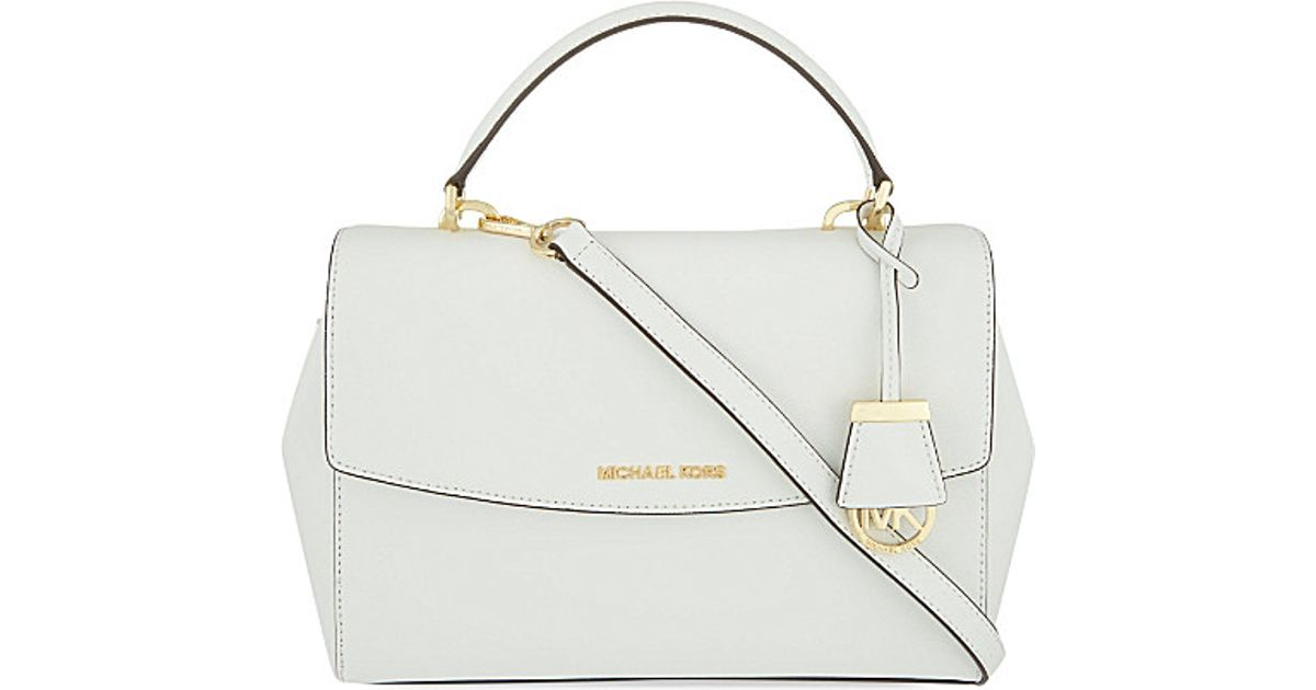 3901bf656ebf MICHAEL Michael Kors Ava Medium Saffiano Leather Satchel Bag - For Women in  White - Lyst