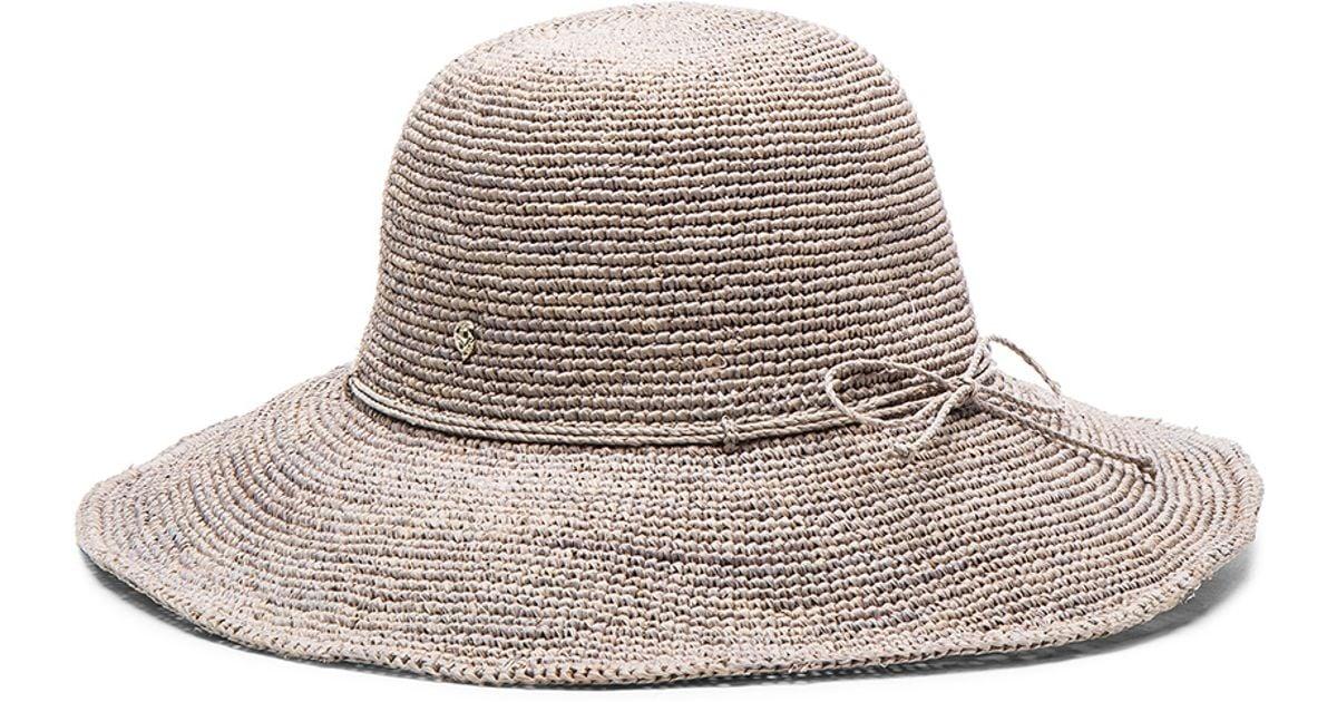 b8fa6f87a447da Helen Kaminski Tahani Hat in Gray - Lyst