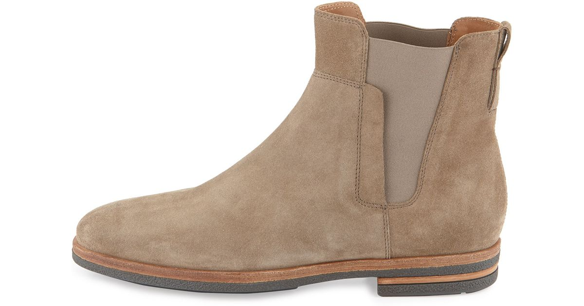 vince mens suede chelsea boot in for lyst
