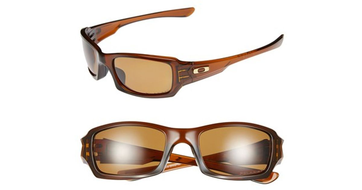 5518a37a0a3 Lyst - Oakley  fives Squared  54mm Polarized Sunglasses - Rootbeer in Brown  for Men