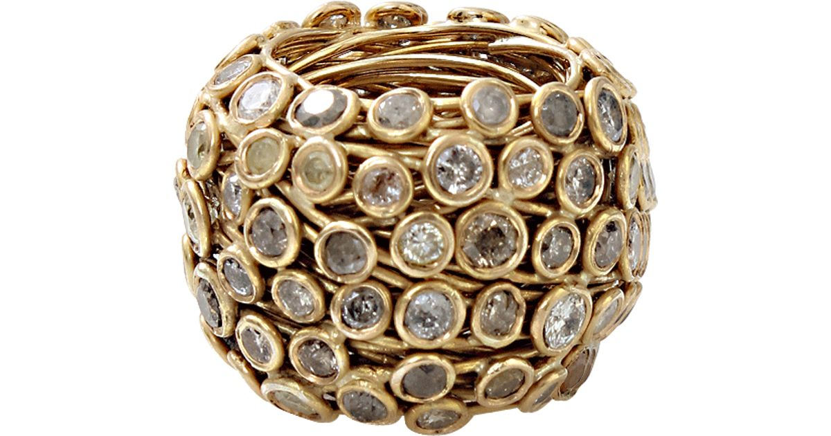 Lyst - Boaz Kashi Multi-Color Diamond Wire Wrap Ring in Metallic