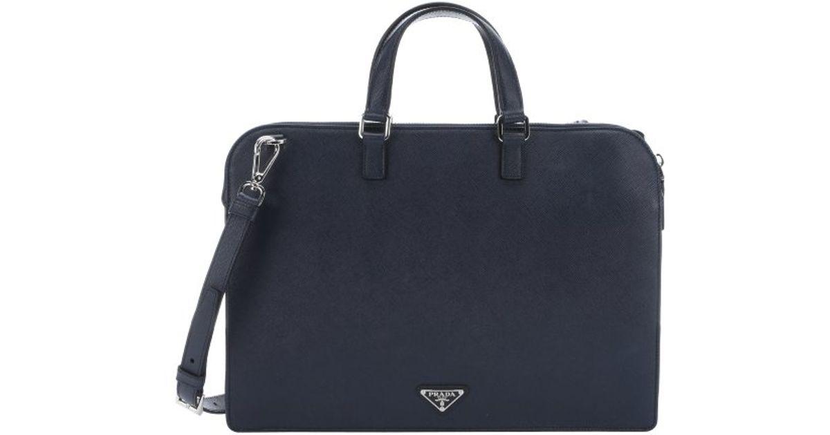 39eb4d06745d Prada Baltic Blue Saffiano Leather Top Handle Briefcase in Blue .