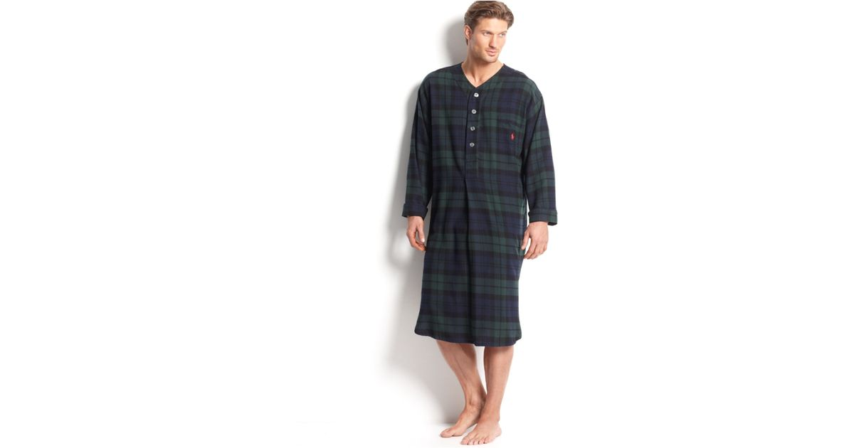 1023f44b ... ebay lyst polo ralph lauren mens long sleeved plaid flannel pajama shirt  in black for men