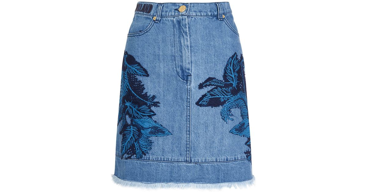 house of denim lace skirt in blue save 31 lyst
