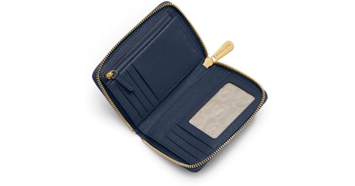 e7a733c1deaf Michael Kors Jet Set Travel Medium Saffiano Leather Continental Wallet in  Blue for Men - Lyst
