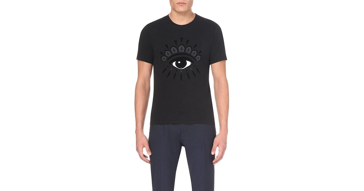Black Eye Men's Jersey In Shirt Evil Size Xs T Cotton Kenzo HqB4zY