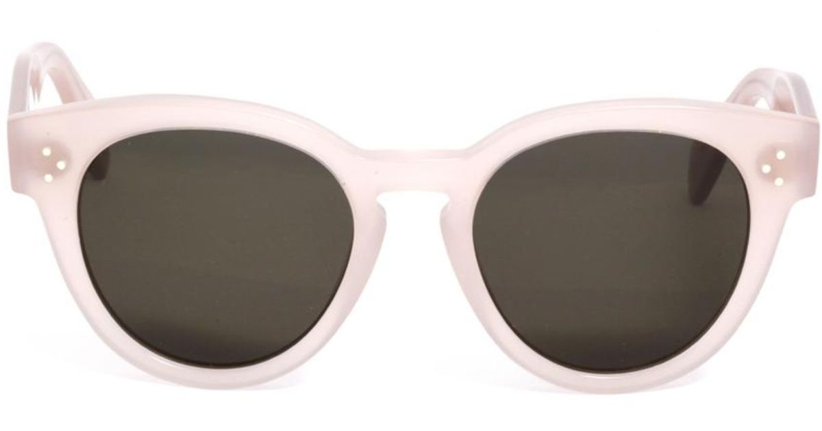 0bfcea880d42 Lyst - Céline Pearly Round-Framed Sunglasses in Pink