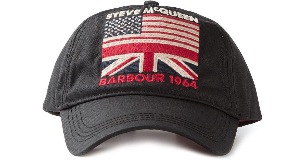 Lyst - Barbour Steve Mcqueen Usa Flag Cap in Black for Men 0da29b79301