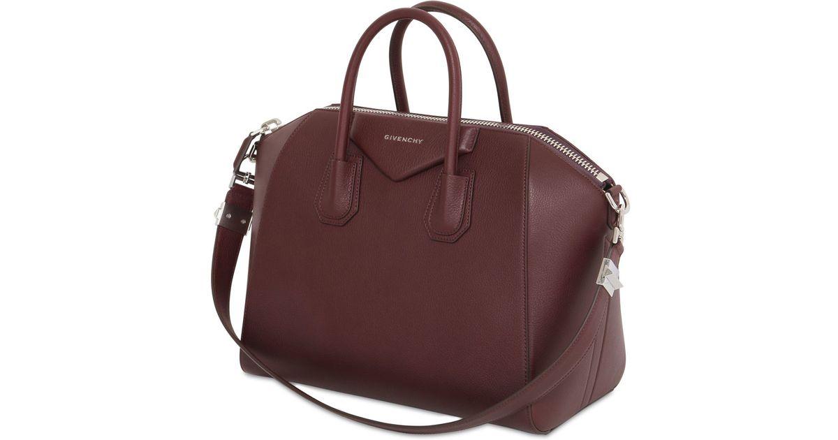 Givenchy Medium Antigona Grained Leather Bag in Brown - Lyst 4688b65491