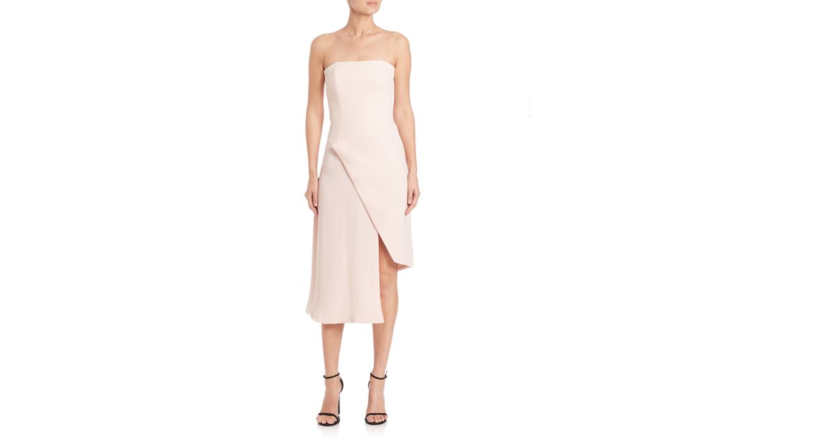 f0073383e45d1 Nicholas Bonded Crepe Wrap-Front Dress in Pink - Lyst