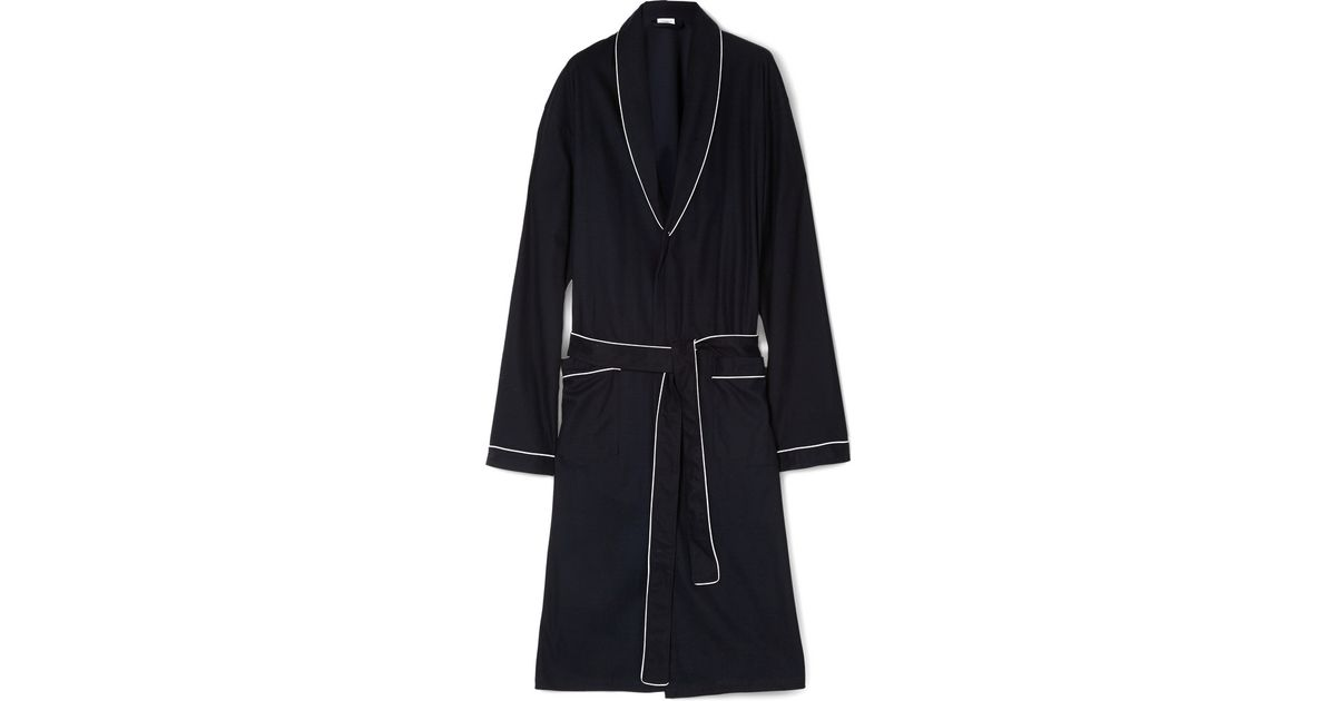 Lyst - Zimmerli Waffle-Knit Cotton Dressing Gown in Blue for Men