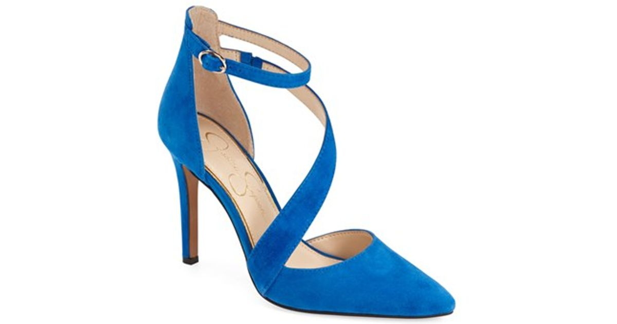 17a3598f862 Lyst - Jessica Simpson  castana  Pointy Toe Pump in Blue