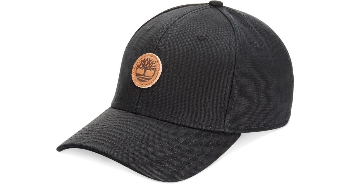 25ccbd82 Timberland Cotton Baseball Cap in Black for Men - Lyst