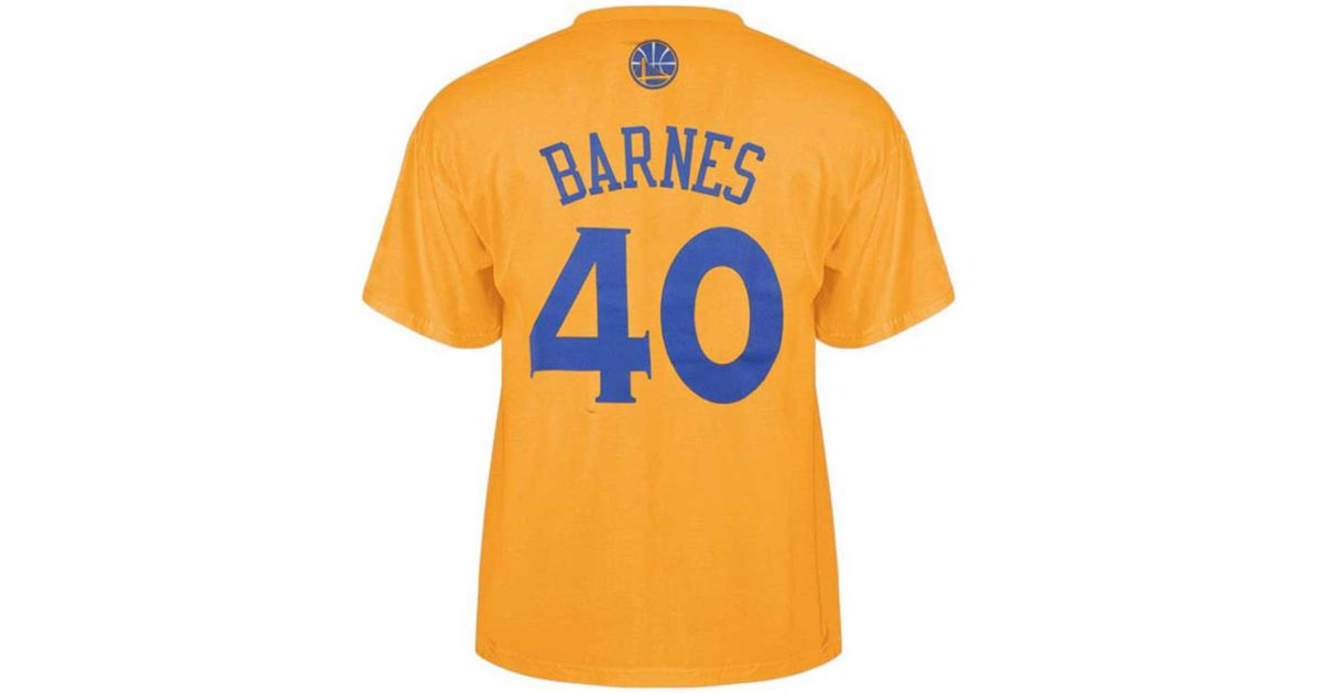 62e919bc1 Lyst - adidas Originals Men s Golden State Warriors Harrison Barnes Player  T-shirt in Metallic for Men