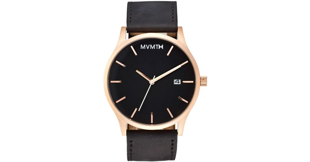 Mvmt Leather Strap Watch In Metallic For Men Lyst
