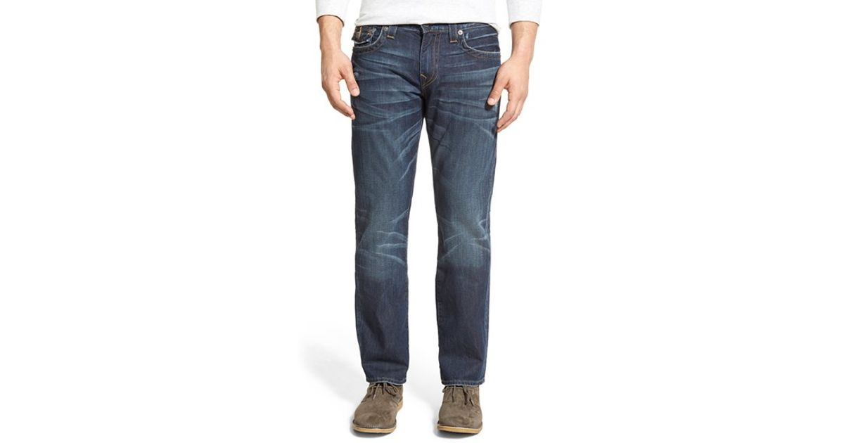 true religion 39 ricky 39 relaxed fit jeans in blue for men lyst. Black Bedroom Furniture Sets. Home Design Ideas