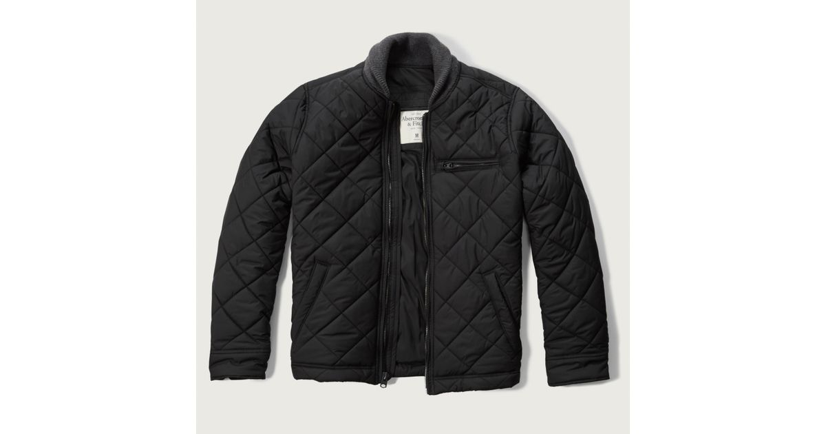Abercrombie And Fitch Clothing Abercrombie And Fitch Hoodies Abercrombie And Fitch Jackets Abercrombie And Fitch Sweater: Abercrombie & Fitch Premium Quilted Bomber Jacket