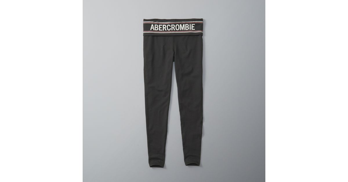 Abercrombie And Fitch Clothing Abercrombie And Fitch Hoodies Abercrombie And Fitch Jackets Abercrombie And Fitch Sweater: Abercrombie & Fitch Logo Waistband Leggings In Gray