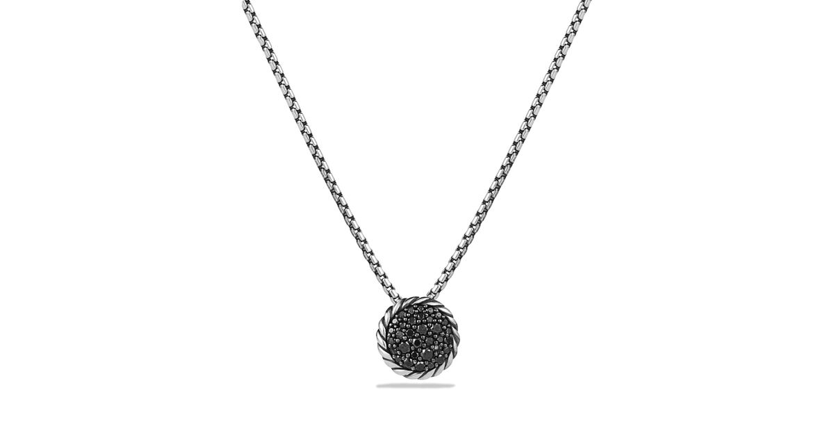 david yurman chatelaine pave pendant necklace with black