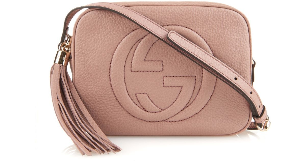 f6a95a5e5c59 Gucci Soho Leather Cross-Body Bag in Pink - Lyst