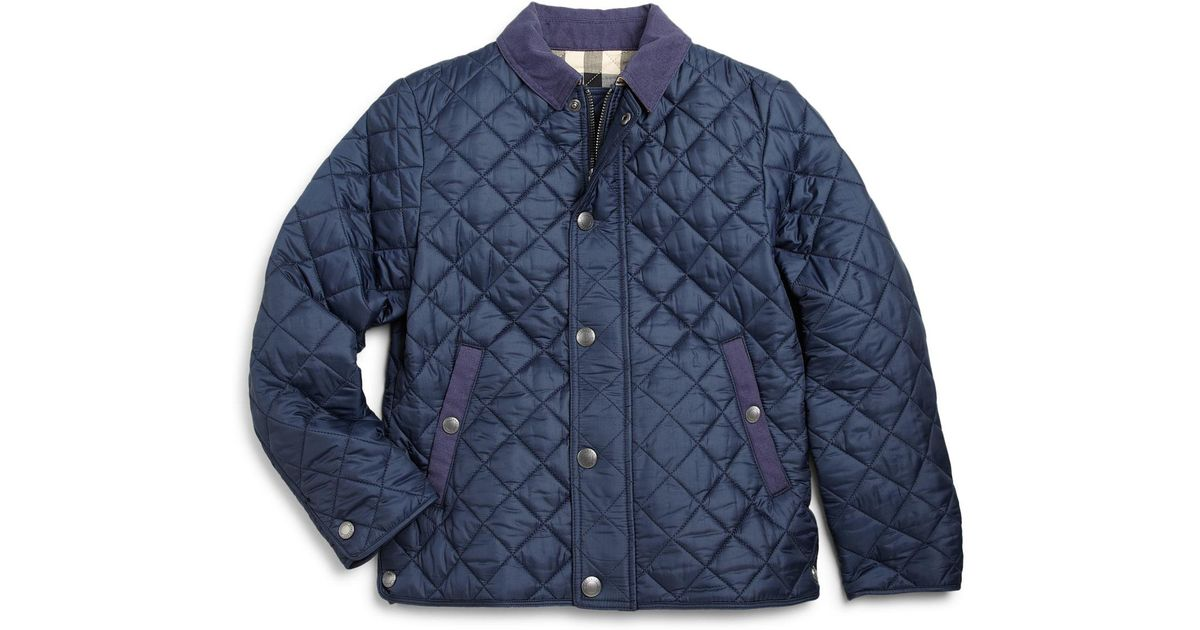 Lyst Burberry Boys Luke Quilted Jacket In Blue