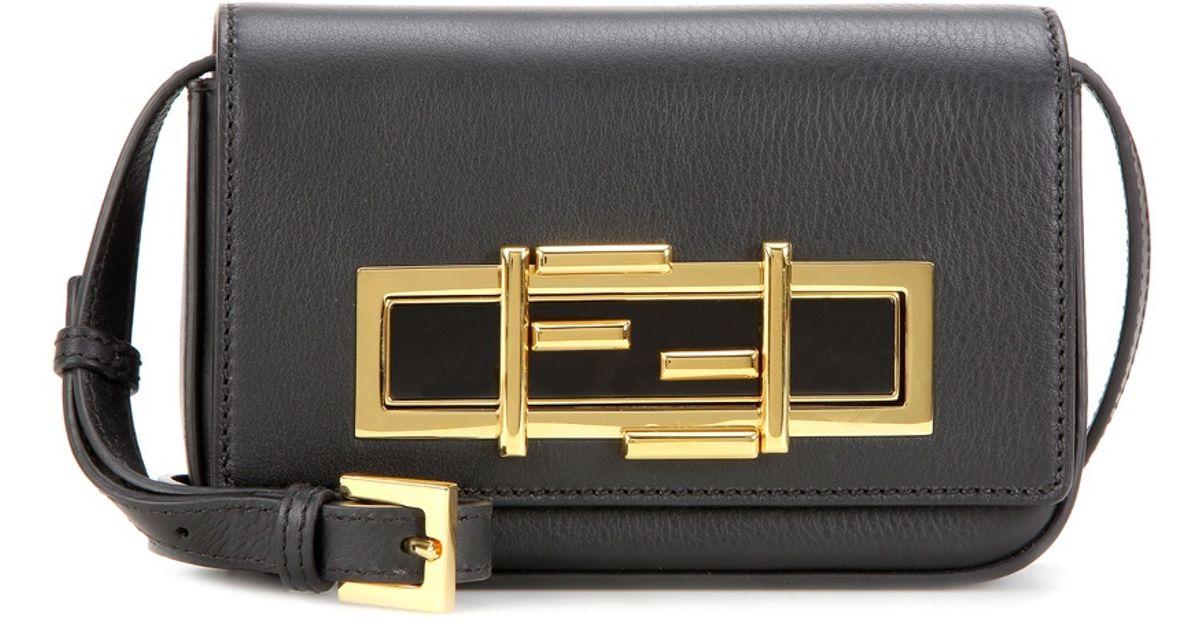 eea2af5a48 Lyst - Fendi Mini 3baguette Leather Shoulder Bag in Gray