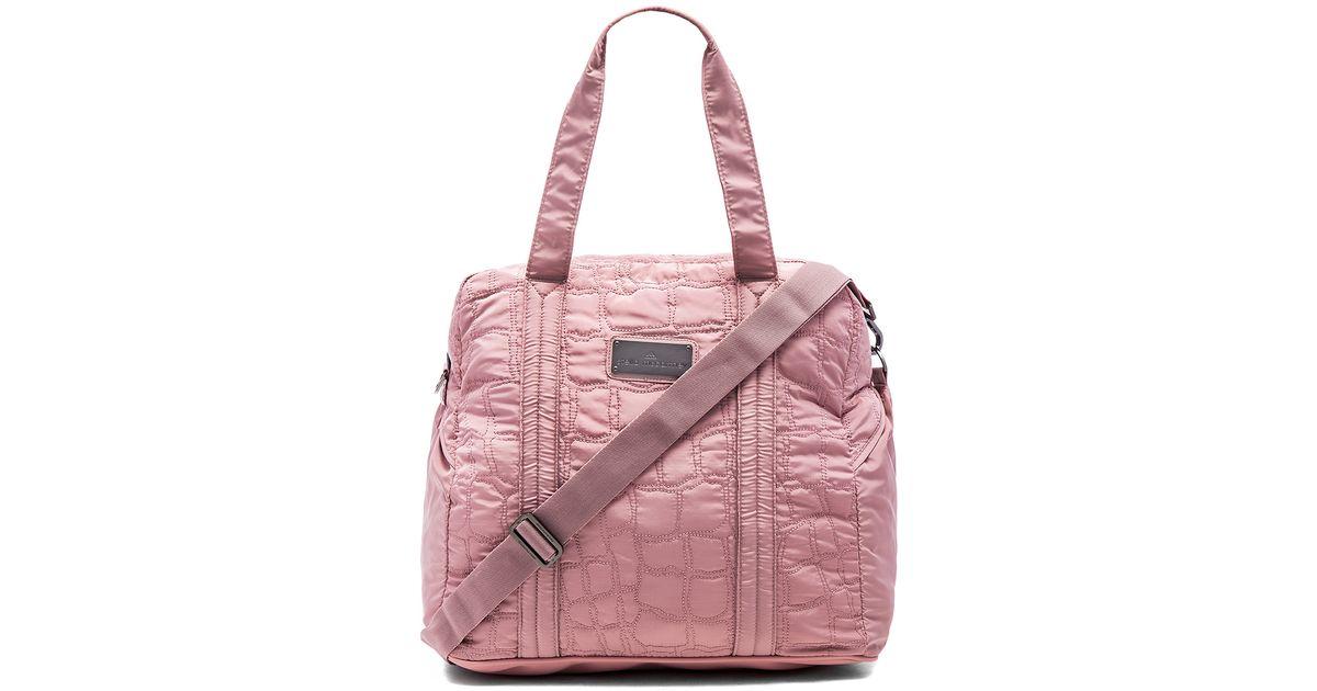 2a99d90ecb Lyst - adidas By Stella McCartney Essentials Travel Bag in Purple