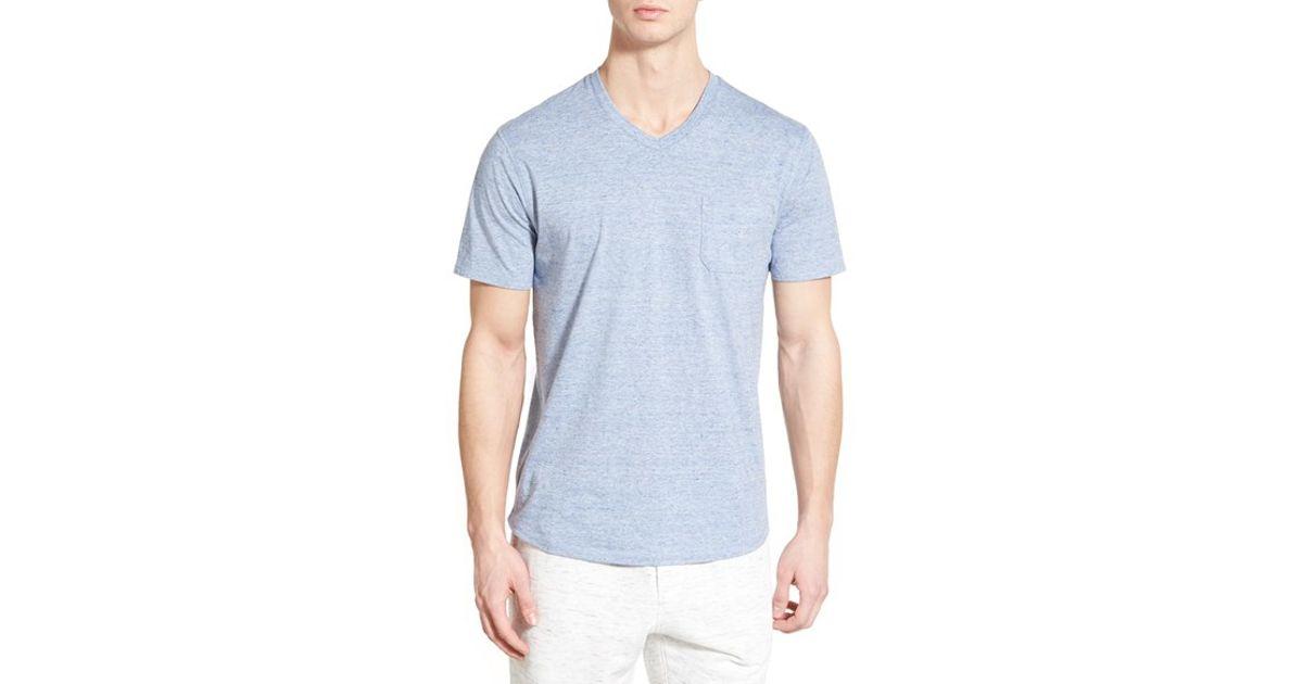 de59153104b Lyst - Nordstrom Cotton V-neck Pocket T-shirt in Gray for Men
