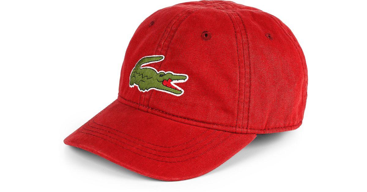 Lyst - Lacoste Boys Baseball Cap in Red for Men 11ca10447d1