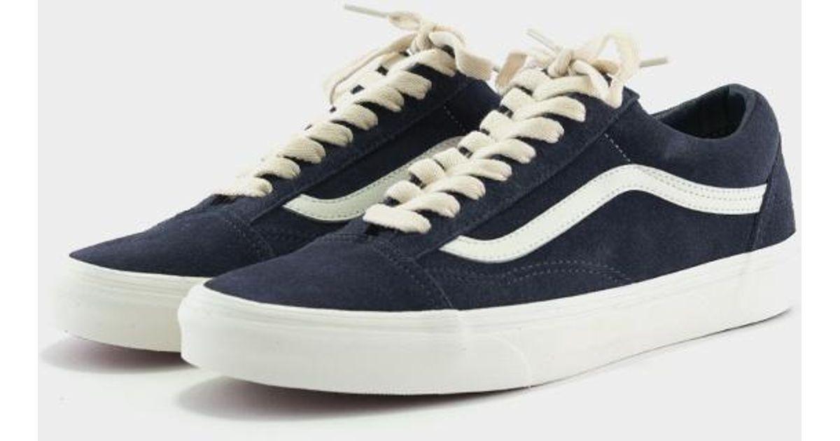 Vans Old Skool Suede Navy Herringbone Lace in Blue for Men - Lyst 4ab5e79aa