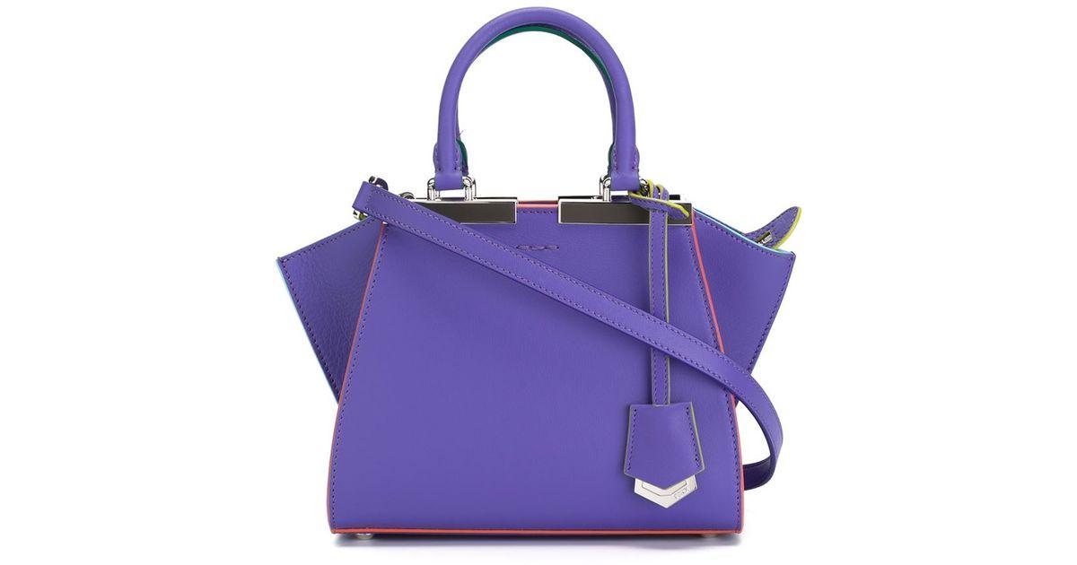 649524767c84 Fendi Mini  3 Jours  Crossbody Bag in Pink - Lyst