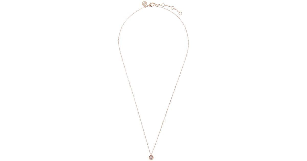 Accessorize Rose Gold Simple Pendant Necklace With Swarovski ...