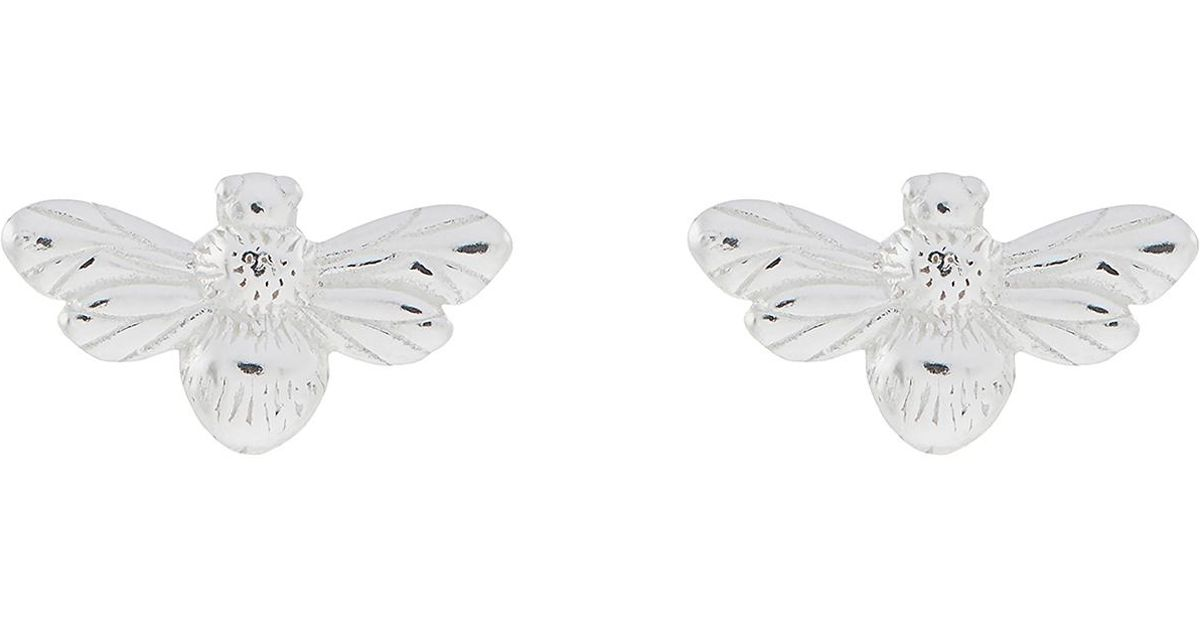 2bcfe801b Accessorize Sterling Silver Botanical Bee Stud Earrings in Metallic - Save  70% - Lyst
