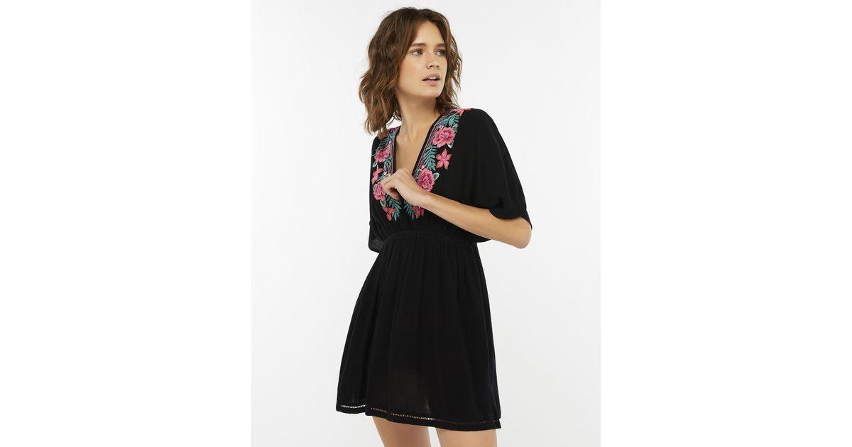 ef0376e7fb Accessorize Rebecca Embroidered Kaftan in Black - Save 20% - Lyst