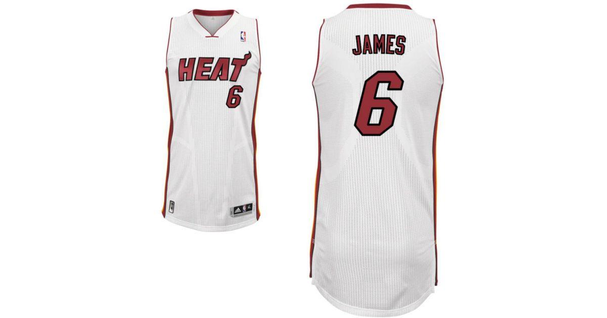 best sneakers f128f 61813 Adidas - White Boys' Lebron James Miami Heat Revolution 30 Swingman Jersey  for Men - Lyst