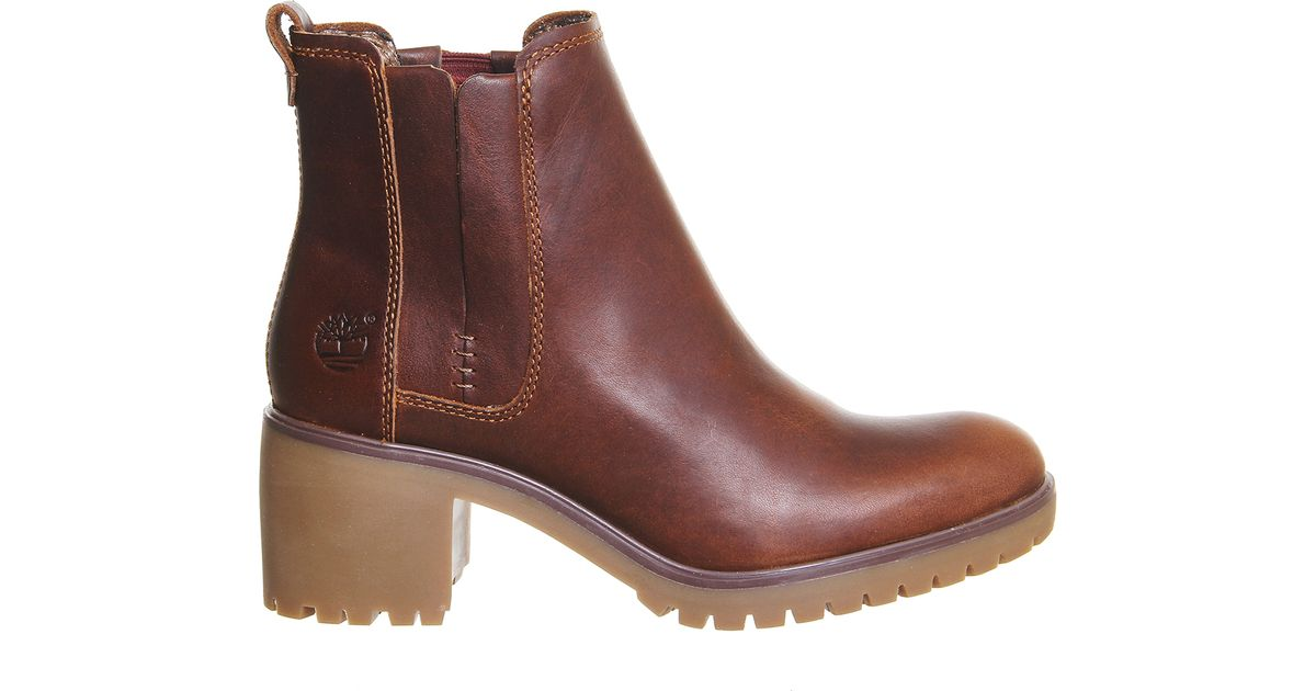 timberland averly chelsea boots in brown cognac lyst. Black Bedroom Furniture Sets. Home Design Ideas