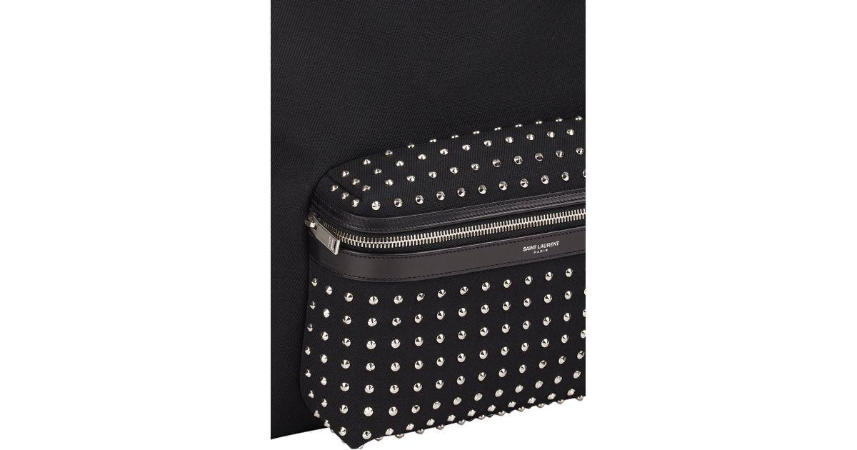 4289f91d6 Saint Laurent Studded-Pocket Classic Backpack in Black for Men - Lyst