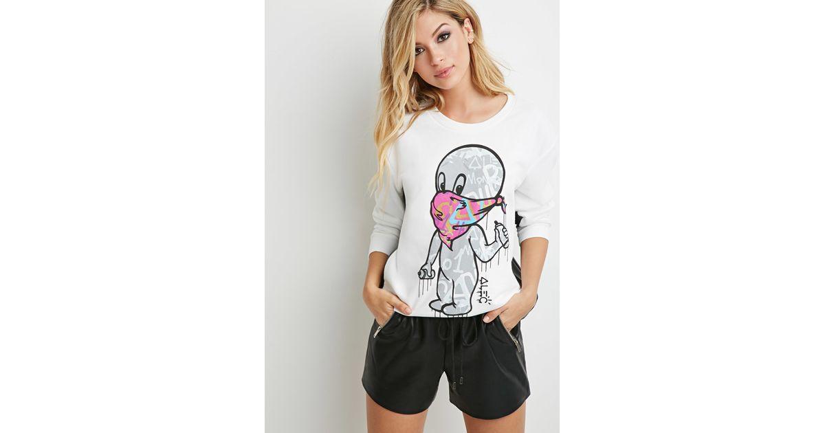 024ce8cd Forever 21 Alec Monopoly X Casper Graphic Sweatshirt in White - Lyst