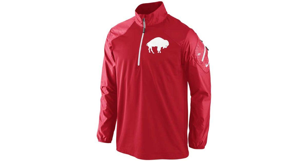Lyst - Nike Mens Buffalo Bills Alt Hybrid Halfzip Jacket in Red for Men 85ee2e98a
