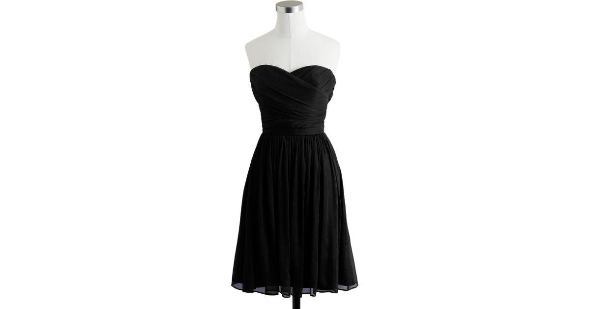 Lyst - J.Crew Arabelle Dress In Silk Chiffon in Black