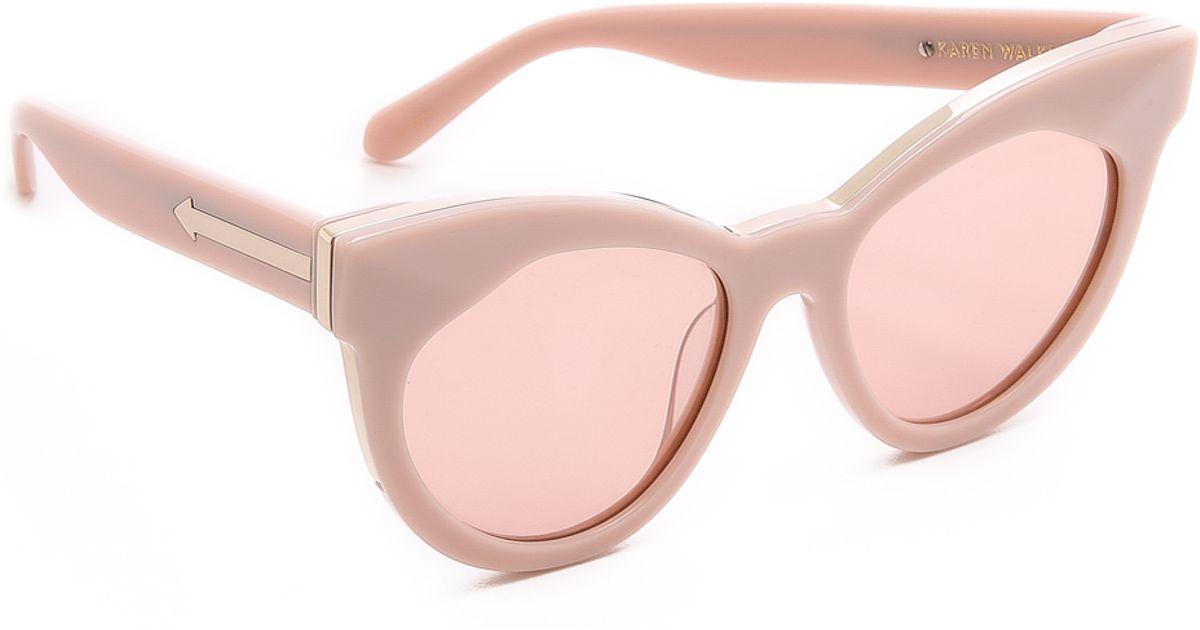 99f8b7d0ad1 Lyst - Karen Walker Starburst Sunglasses - Dusty Pink/pink Mono in Pink