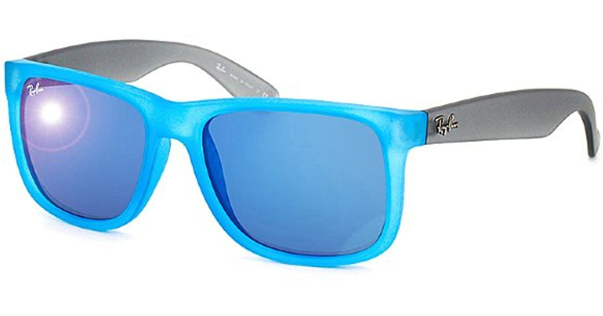 8cd1dd441e Ray Ban Rb4165 Justin Sunglasses Rubber Gradient Blue « Heritage Malta