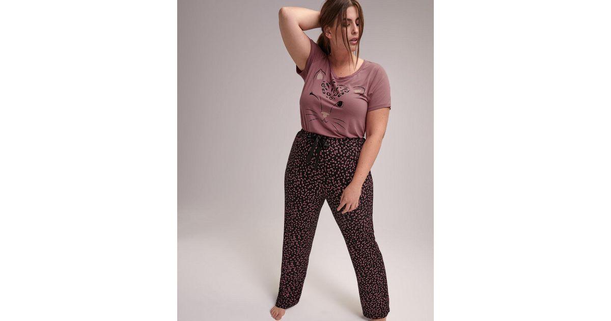 Lyst - Addition Elle Straight Leg Pajama Pant - Déesse Collection 8d0336a49