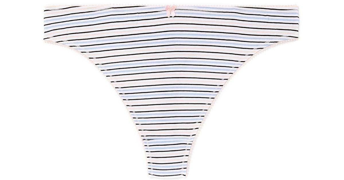 e59da7814679e Lyst - Addition Elle Printed Cotton Thong Panty - Ti Voglio in White