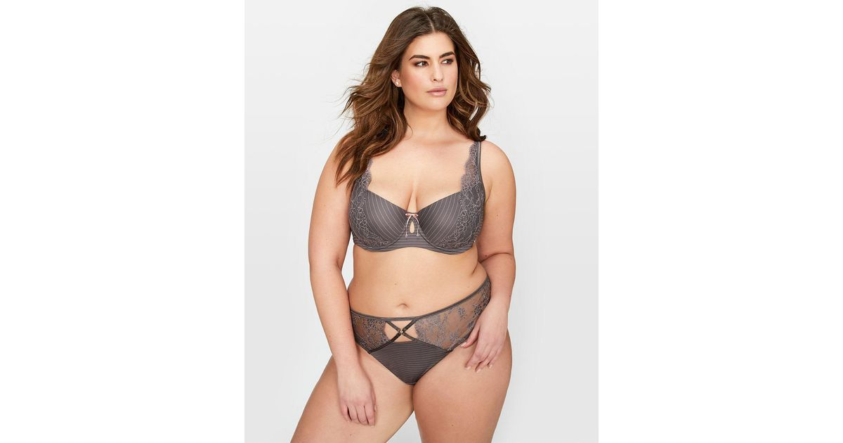 646c44ff2b Lyst - Addition Elle Ashley Graham Lace And Striped Diva Bra