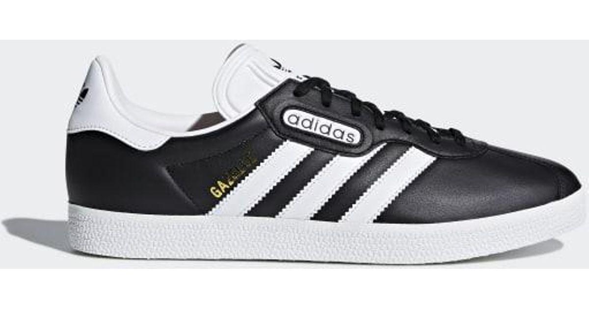 new concept cb234 ac16f Lyst - adidas World Cup Gazelle Super Essential Shoes in Bla