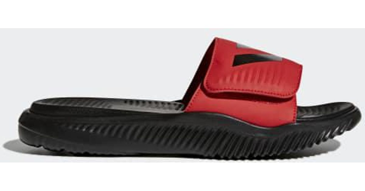 lyst adidas alphabounce basketball slides in red for men